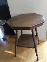 """30"""" High X 24"""" Wide Vintage 2-Tier Table / Stand"""