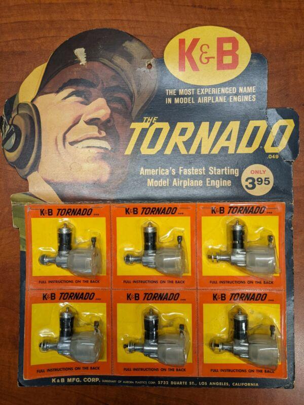 6 Vintage K&B Tornado .049 Model Airplane Engines