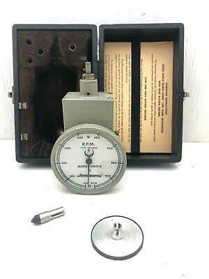 Vintage Jones Single Range Model 1600-2 Hand Tachometer W Stop Button Feature
