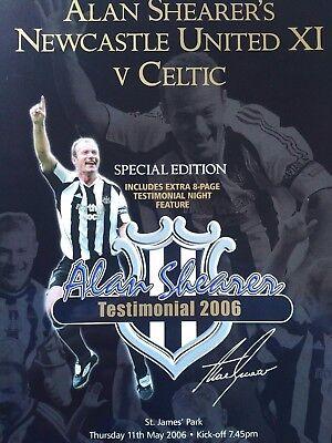Alan Shearer Testimonial 11/5/2006 Newcastle United XI v Celtic. MINT CONDITION.