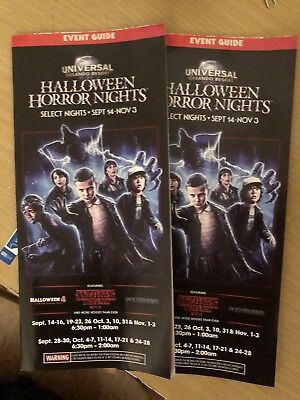 Halloween Horror Nights 28 Stranger Things TWO [2] Event Guide And Map](Map Halloween)