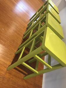Thonet stools (2-pack pea green finish) - x4 Riverview Lane Cove Area Preview