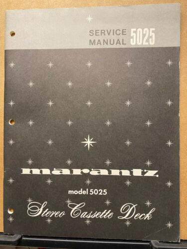 Original Service Manual for the Marantz 5025 Cassette Tape Deck ~ Repair