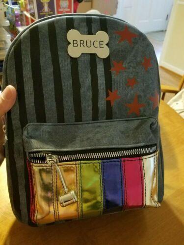 DC Comics Birds of Prey Harley Quinn Bruce Mini Backpack Bookbag Bioworld NWT