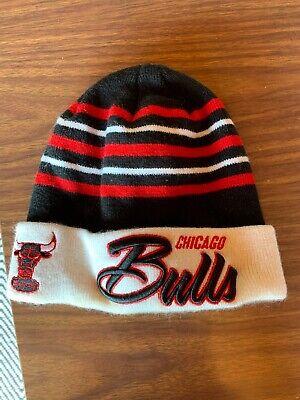 Chicago Bulls Windy City Knit Cuffed Beanie Hat New Era Hardwood Classics NBA