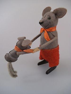 Schuco Tanzfigur Maus mit Kind - US Zone - 50er Jahre