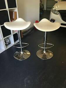 White Bar Stools x2 Mount Ousley Wollongong Area Preview