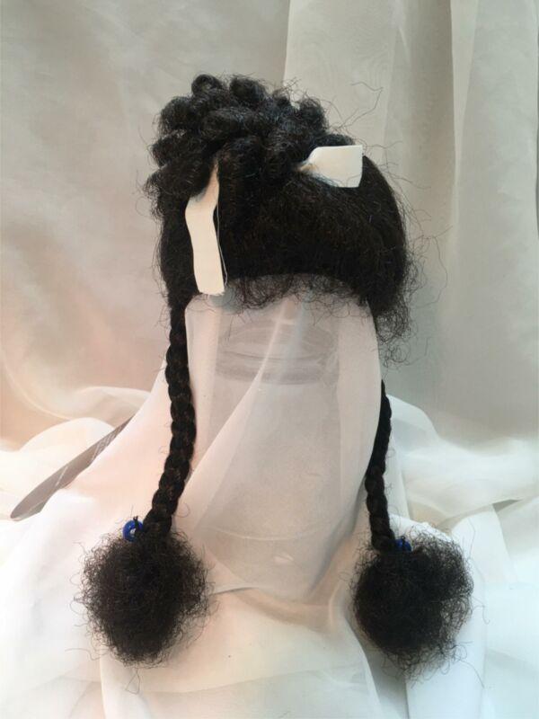 """12/13"""" Ethnic Braids Dark Brown Doll Wig Reborn OOAK BJD Repair LUCINDA"""