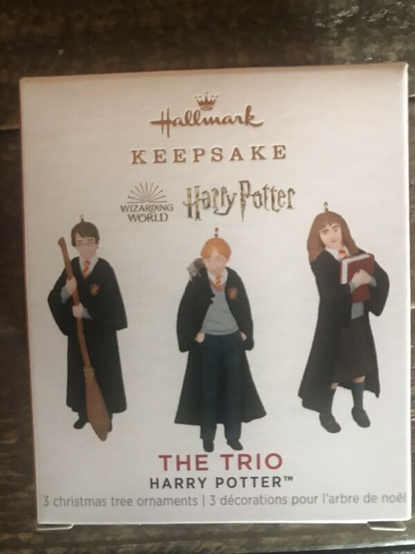 NIB, 2021 Hallmark Ornament The Trio Mini Harry Potter Set