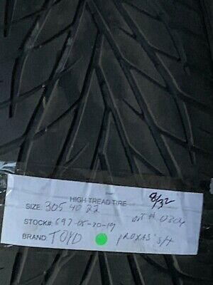 1 30540-22 Toyo Proxes St Used High Tread Tire 305 40 22 832nds