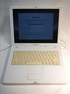"Apple iBook (2003) 14"" Laptop, 1GHz PowerPC G4 CPU, 1GB RAM, 60GB HDD"
