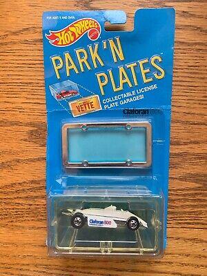 1989 Hot Wheels Park 'N Plates Claforan 500 Thunderstreak Creased Card
