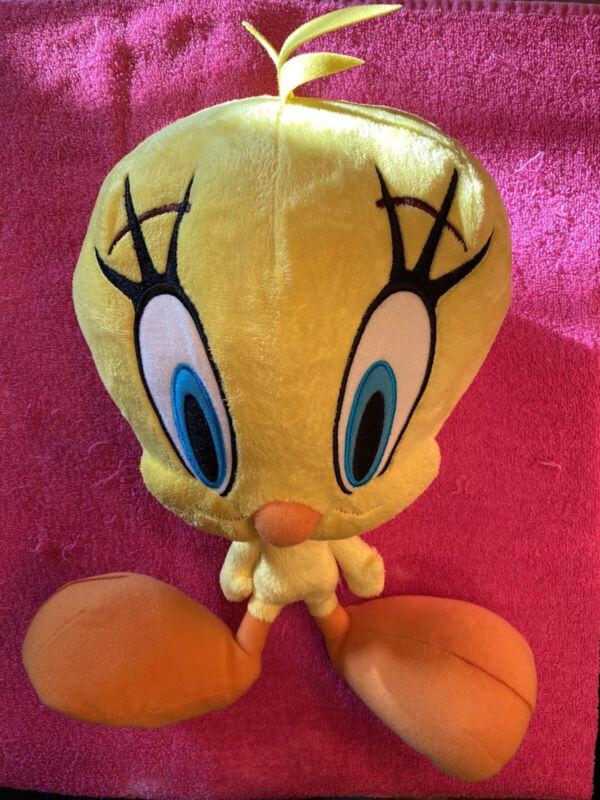 """Looney Tunes Tweety Bird Plush  12"""" Tall  Big Head Feet Stuffed"""