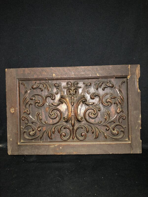 "21"" Carved Wood Pediment"