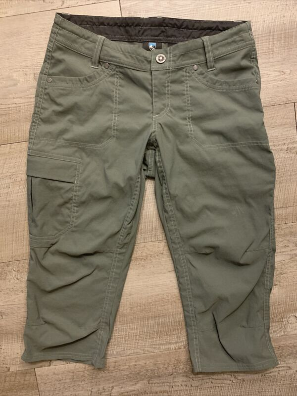 Kuhl women's Capri Pants/Shorts Size 4 Olive Green Outdoor Hiking 108846