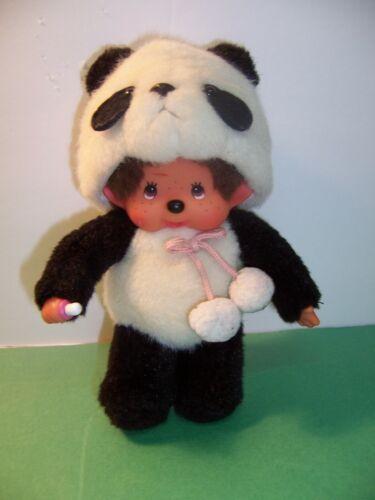 "Sekiguchi Panda Suit - Monchhichi Doll - Plush Japan 8"" Standing  - VGC"