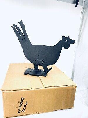 Cast Iron Rooster Boot Scraper Primitve Farmhouse Metal Chicken Door Stop Decor