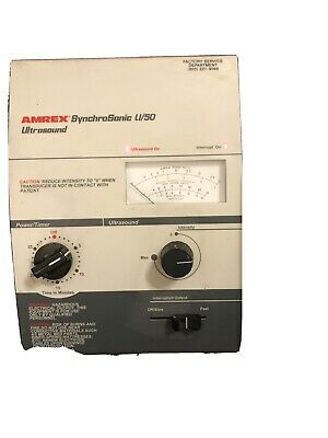 Amrex Model U50 Portable Ultrasound Machine- Used But In Good Condition