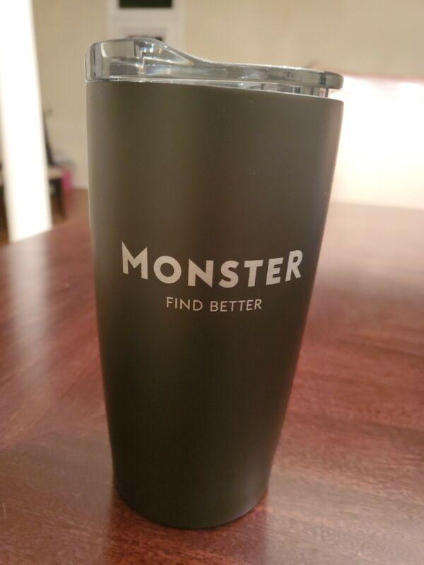 Black 20 Oz Tumbler, Monster find Better