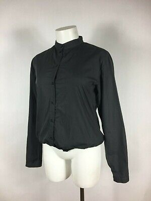 HUSSEIN CHALAYAN - Black Twinset style Banded Collar Top 38