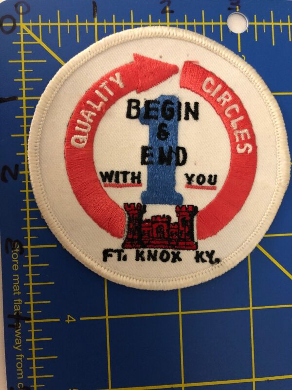Vintage Ft. Knox KY Logo Patch Kentucky Fort Quality Circles Begin End With You