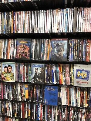 Lot of 100 Used DVD Movies Wholesale Lot Bulk 100 DVD's Mixed Assortment - Movies Wholesale