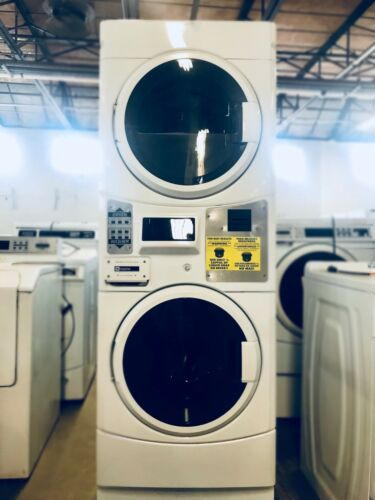 Card Operated Maytag MLG20PR Commercial Stack Washer/Dryer Combo, Used