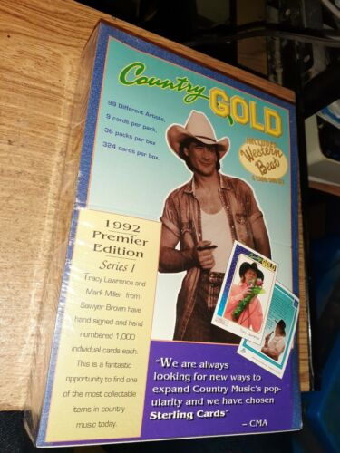 324 Country Gold Cards Premier Edition 1992 Series 1 Sealed Sterling Trading