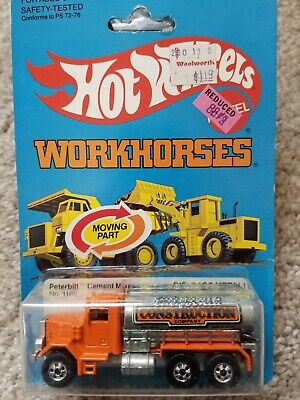 Hot Wheels 1982 Workhorses Peterbilt Cement Mixer #1169 California Construction