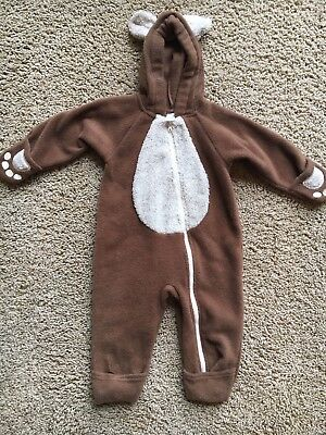 Land's End Bear Costume Kids Child's Halloween Size 12M Great Shape Fast Ship!