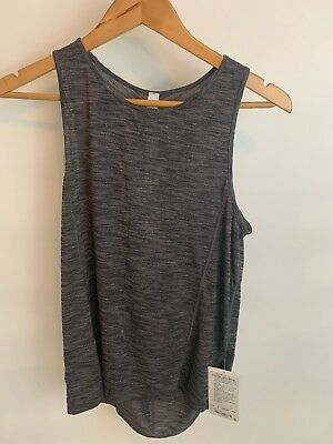 Lululemon Women's Low Key Tank Silver  Heathered Black 4 NWT