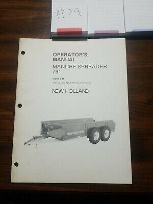 New Holland 791 Manure Spreader Operator Manual