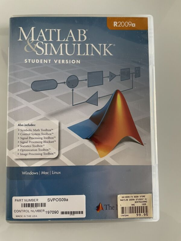 Matlab & Simulink R2009a Release 2009A By The MathWorks Software