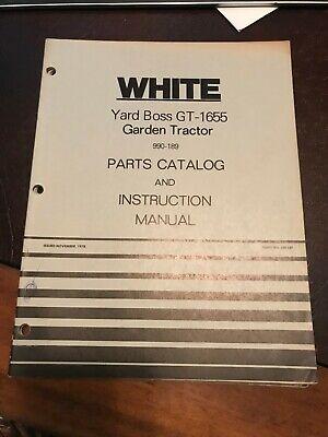 White hydrostatic transmission yard boss gt1650 990 029 990 103 Service Manual