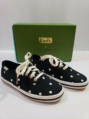 Keds Kate Spade Shoes Kids Girls Size 11 M Black white Gold covid 19 (Keds Childrens Shoes coronavirus)