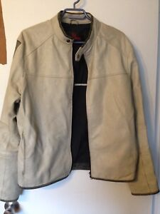 Men's White Leather Jacket Danier Leather