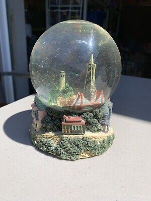 Three Jays Imports Chicago San Francisco Musical Glitter Snow Globe Golden Gate