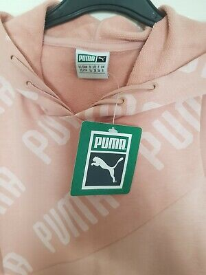 puma long hoodie pink size S