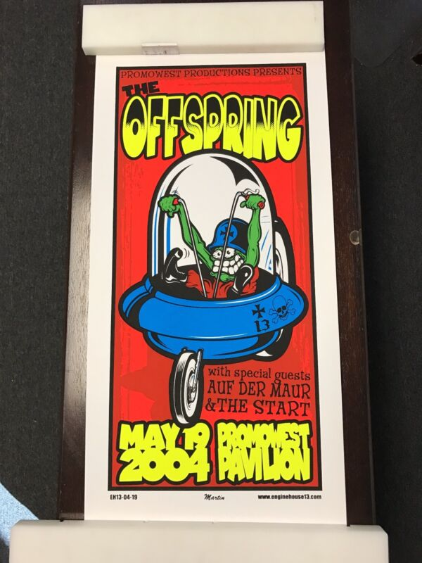 """THE OFFSPRING 2004 TOUR POSTER 13"""" X 26"""""""