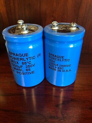 Sprague Powerlytic 36dx Capacitor Lot Of 2