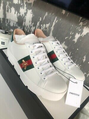 GUCCI ACE TRAINERS WOMENS SIZE 38.5 UK BRAND NEW IN BOX