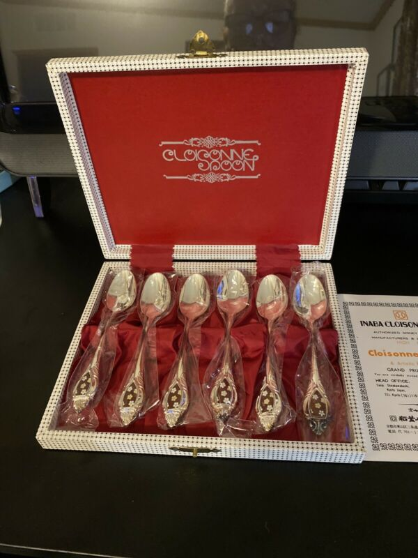 INABA Cloisonne Co. 6 Spoon Set