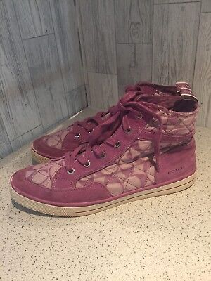 Coach Pink Ladies High Top Trainers Sz7/40*