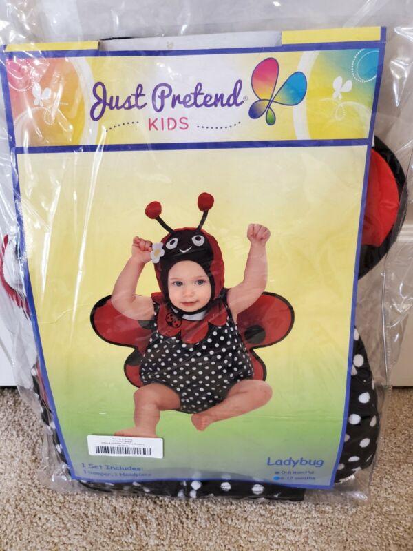 Halloween Childrens Place Ladybug Costume Infant 6-12 Months Plush Stuffed 3 Pcs