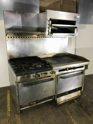 "Sounthbend 60"" Gas Range With ""36 Griddle, 4 Burners, Broiler And 2 Ovens"
