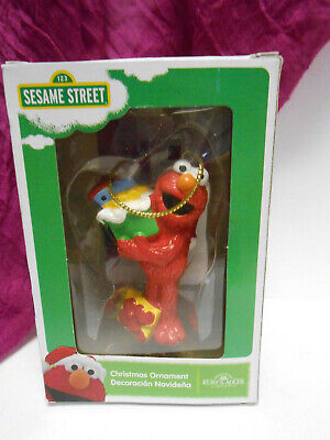 NEW Kurt Adler Sesame Street ELMO with presents  Christmas Ornament NIB](Elmo Christmas Ornament)
