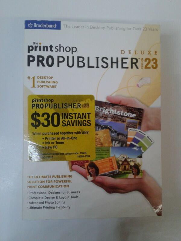 Print Shop PRO Publisher 23 Windows XP New Unopened  dvd-rom