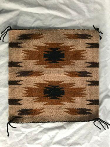 "Hand Woven Mini Navajo Rug 11.5 "" x 12"""