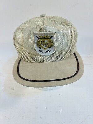 1950s Mens Hats | 50s Vintage Men's Hats vintage country club Snapback mesh baseball hat 1950s 60s $99.00 AT vintagedancer.com