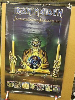 "IRON MAIDEN ""seventh son of a seventh son"". . original promo poster"